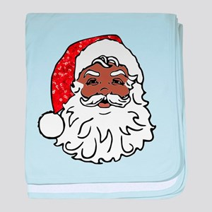 black santa claus baby blanket