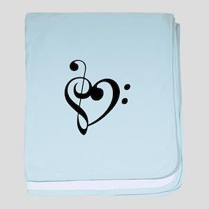 Treble Heart baby blanket