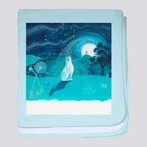 Moon Gazing Hare baby blanket