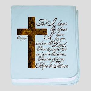 Plan of God Jeremiah 29:11 baby blanket