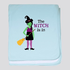 The Witch Is In baby blanket
