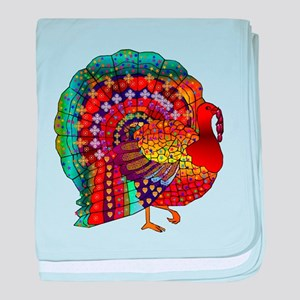 Thanksgiving Jeweled Turkey baby blanket
