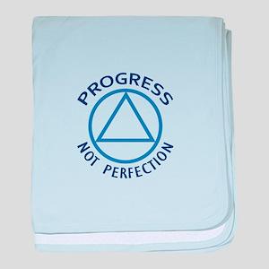 PROGRESS NOT PERFECTION baby blanket