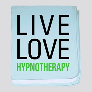 Live Love Hypnotherapy baby blanket