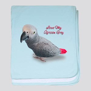 African Grey Parrot Gifts baby blanket