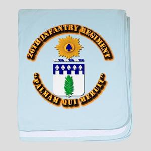 COA - 26th Infantry Regiment baby blanket