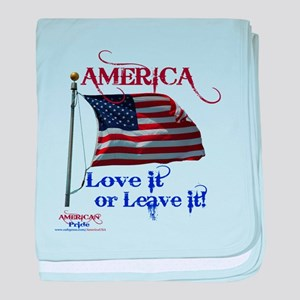 America Love It or Leave it baby blanket