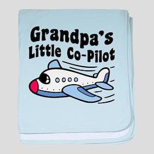 Grandpa's Little Co-Pilot baby blanket