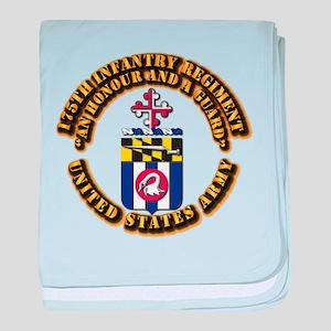 COA - 175th Infantry Regiment baby blanket