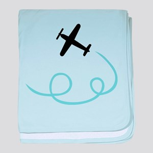 Plane aviation baby blanket