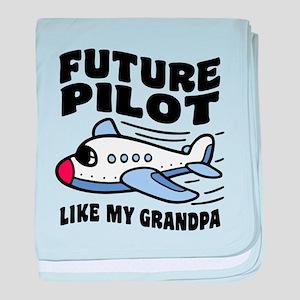 Future Pilot Like My Grandpa baby blanket