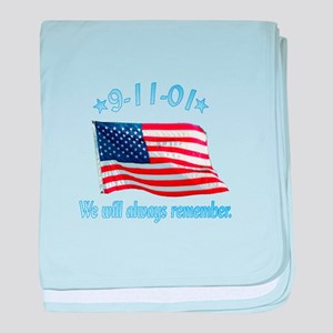 9/11 Tribute - Always Remember baby blanket