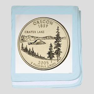 Oregon Quarter 2005 Basic baby blanket