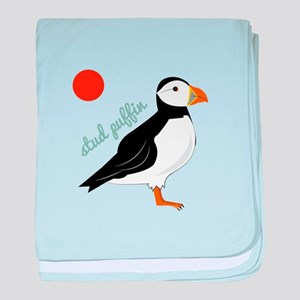 Stud Puffin baby blanket