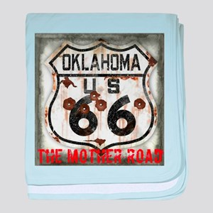 Oklahoma Route 66 Classic baby blanket