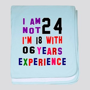 24 Birthday Designs baby blanket