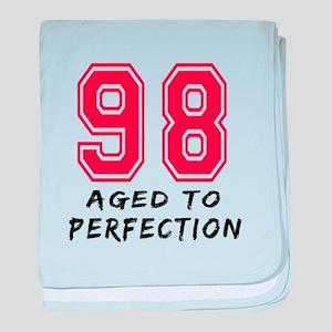 98 Year birthday designs baby blanket