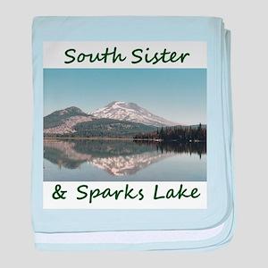 South Sister/Sparks Lake baby blanket