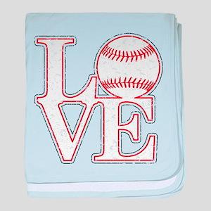 Love Baseball Classic baby blanket