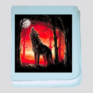 Howling Wolf baby blanket