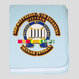 3rd Battalion, 7th Infantry baby blanket