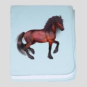brown Horse 2 baby blanket
