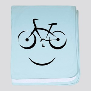 Bike Smile baby blanket