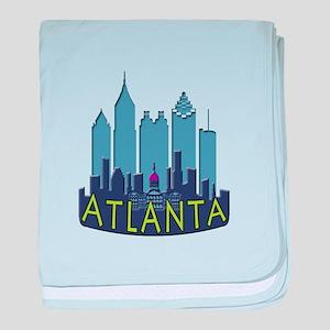 Atlanta Skyline Newwave Cool baby blanket