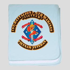 1st Bn - 4th Marines baby blanket