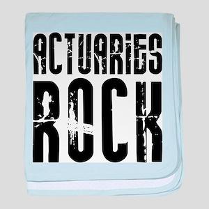 Actuaries Rock baby blanket