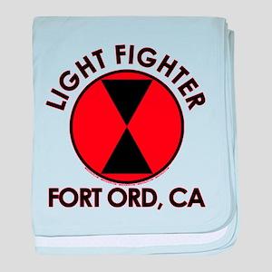 Lightfighter Fort Ord, CA 7th Infantr baby blanket