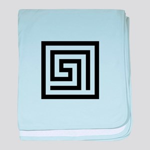 GREEK KEY SQUARE baby blanket