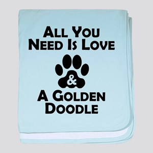 Love And A Goldendoodle baby blanket