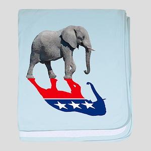 Republican Elephant Shadow baby blanket