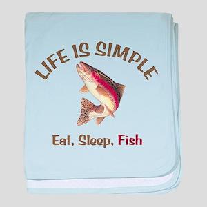 Life is Simple baby blanket