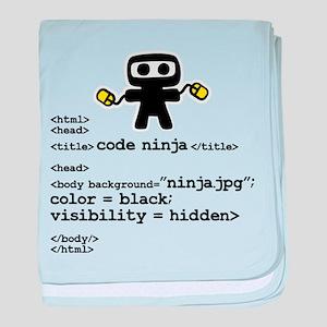I code like a ninja baby blanket