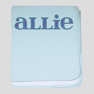 Allie Blue Glass baby blanket
