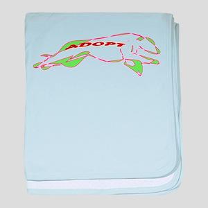 Adopt a Greyhound - Retro baby blanket