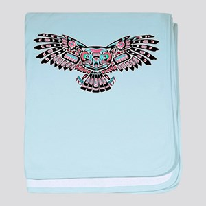 Mystic Owl in Native American Style baby blanket