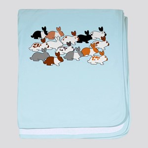 Many Bunnies baby blanket