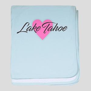 I Heart Lake Tahoe baby blanket
