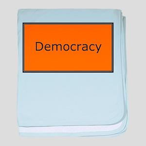 Democracy baby blanket