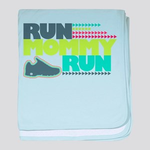 Run Mommy Run - Shoe - Baby Blanket
