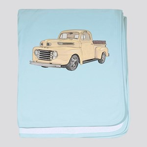 1950 Ford F1 baby blanket