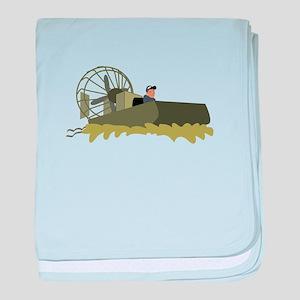 Bayou Airboat baby blanket