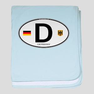 Germany Euro Oval baby blanket