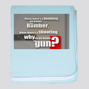 Blaming the gun? baby blanket