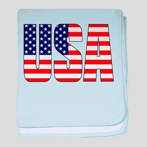 USA Flag baby blanket