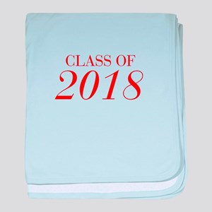 CLASS OF 2018-Bau red 501 baby blanket