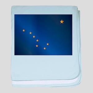 Flag of Alaska Gloss baby blanket